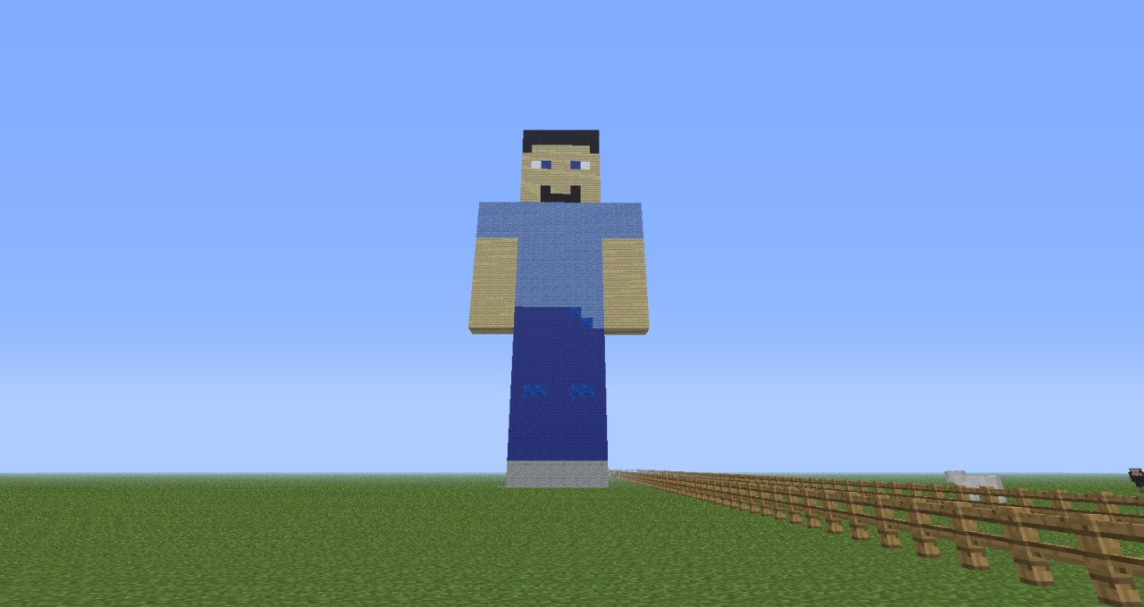 Herobrine Steve Statue Minecraft Project