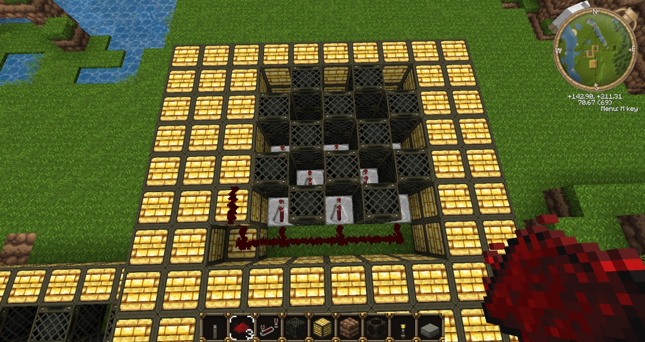 Redstone lamp floor lighting tutorial minecraft project redstone lamp floor lighting tutorial 2 3 aloadofball Images