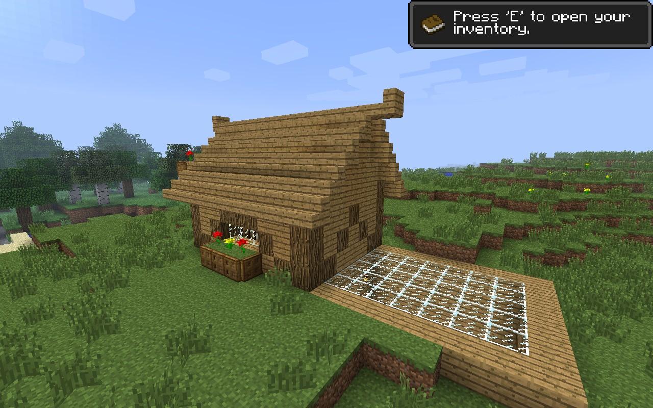 Minecraft Log Cabin ~ Log cabin minecraft project
