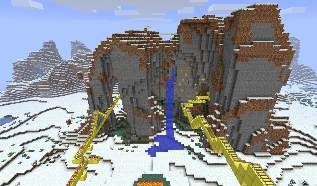 Mountain Roller Coaster Minecraft Project