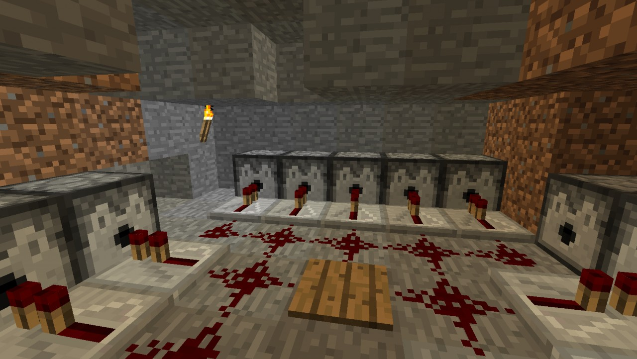 Some good old fashioned dispensers firing spawn eggs.