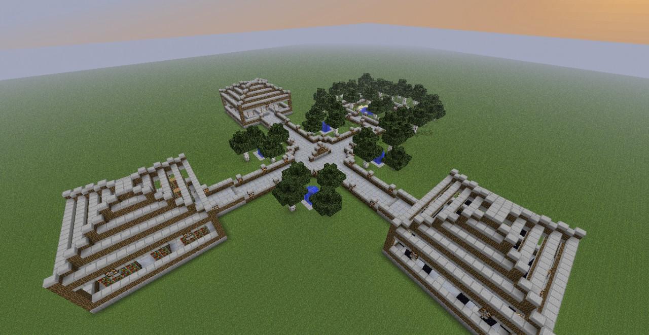 Modern Design Server Spawn Minecraft Project