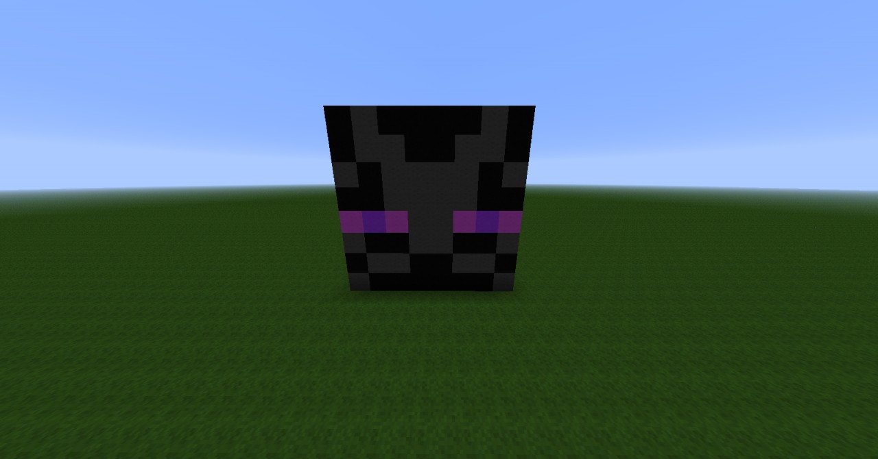 enderman face minecraft project