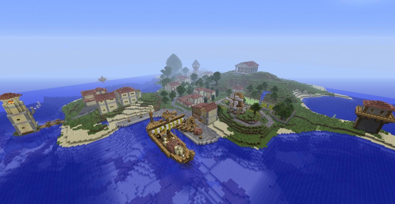 Roman Island City Minecraft Project