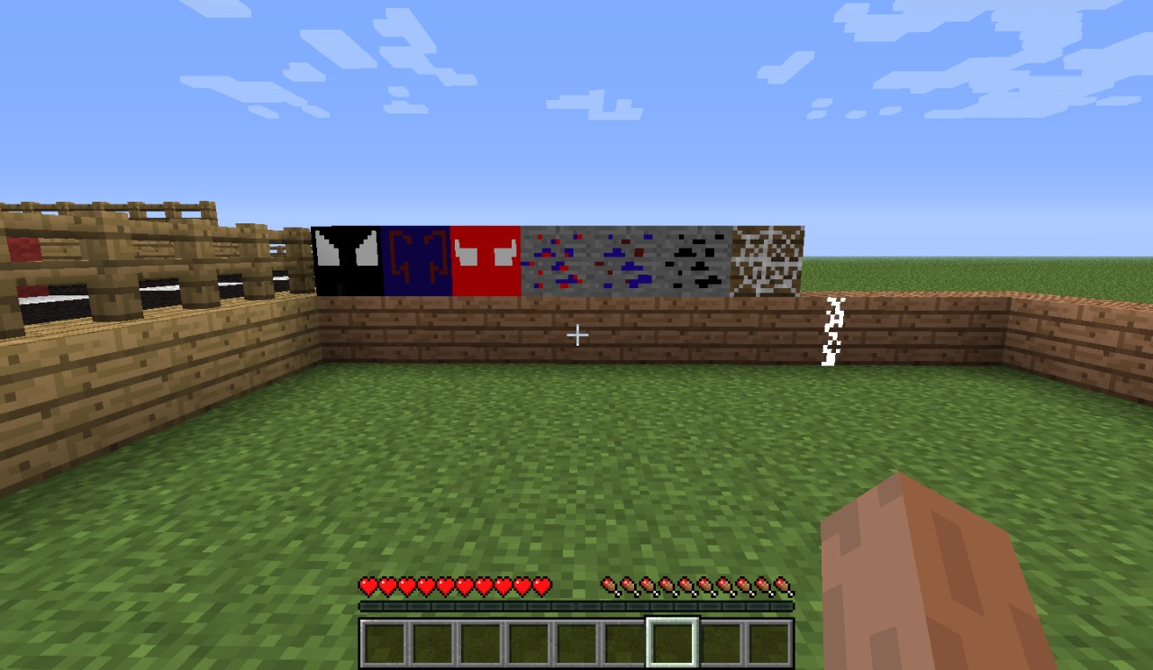 Spiderman Block And Ores And Web