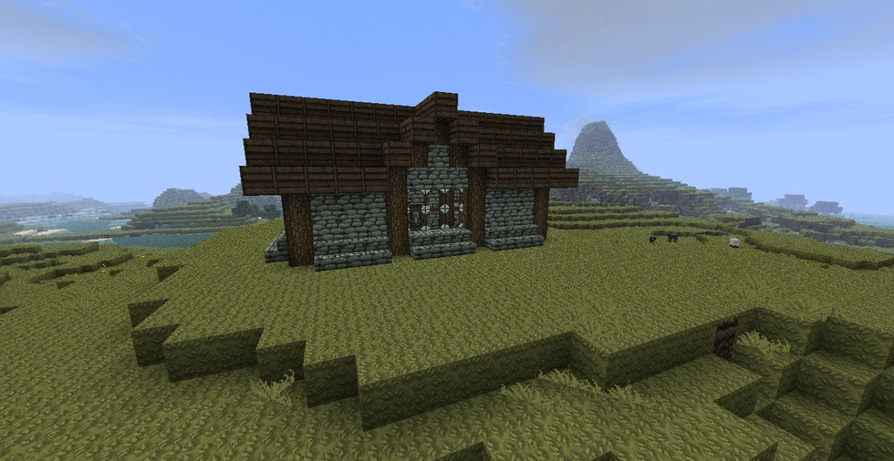 Minecraft pictures of simple houses the for Minimalist house minecraft