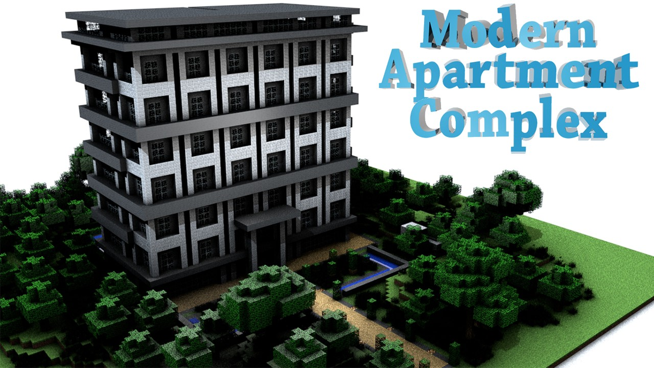 minecraft modern apartment building car tuning