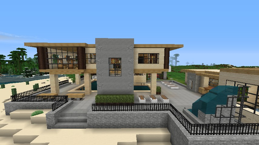 Modern desert home minecraft project for Modern house projects