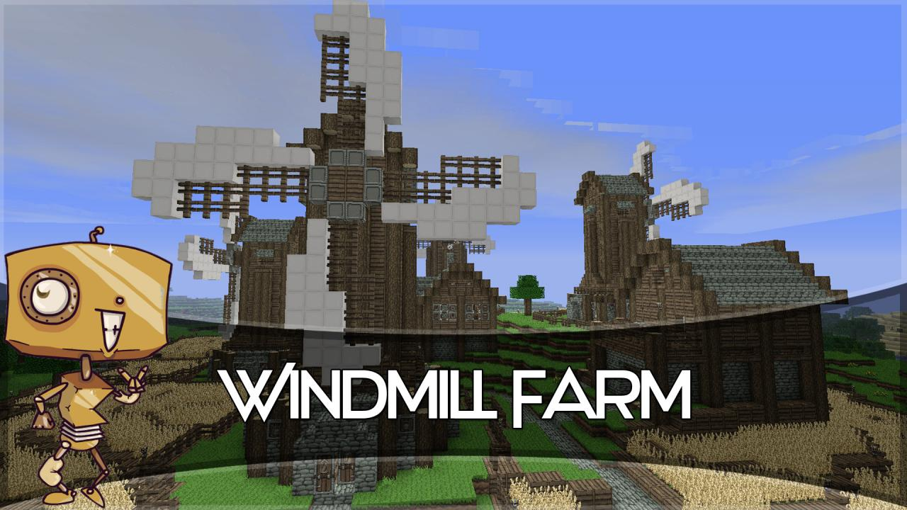 Windmill Farm Minecraft Windmill Farm