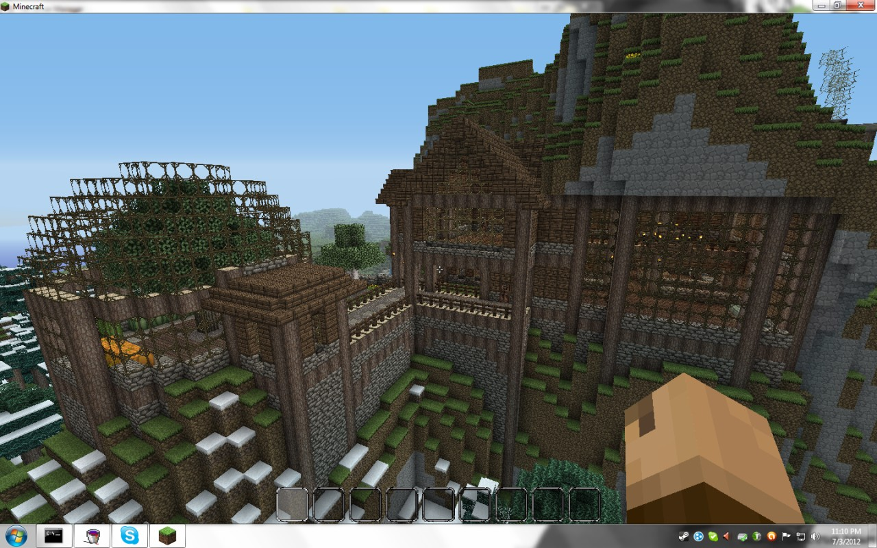 Minecraft mountain house the image kid for Mountain house media