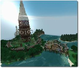 Wooden Tower and Bridge - Sanacraft Minecraft Project