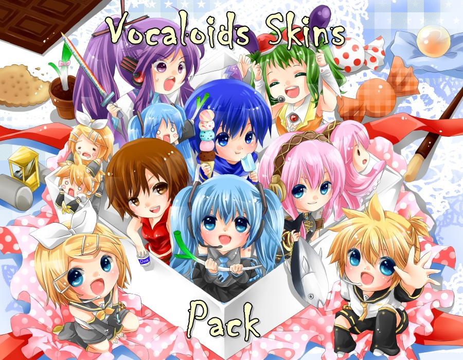 Packs Vocaloid Vocaloid Skins Pack Minecraft