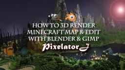 How to 3D Render & Edit Minecraft Screenshot with Blender & Gimp [Tutorial] Minecraft