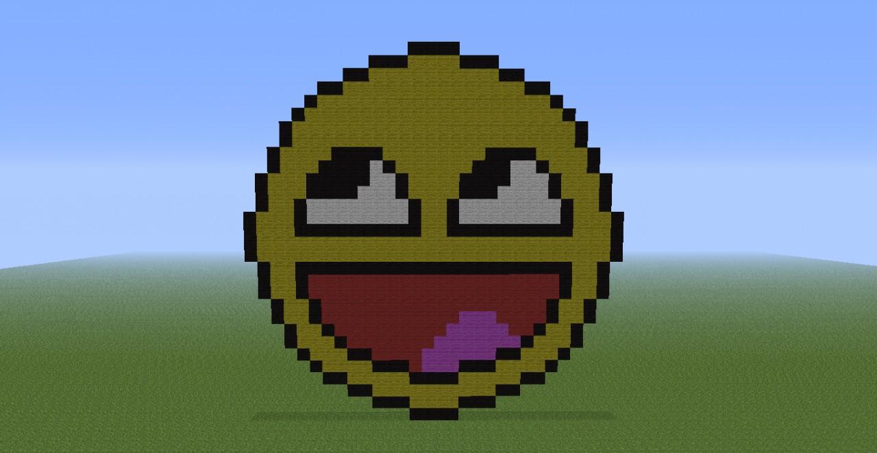 Epic Face Pixel Art Minecraft Project