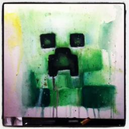 cute little creeper painting♥ Minecraft Blog