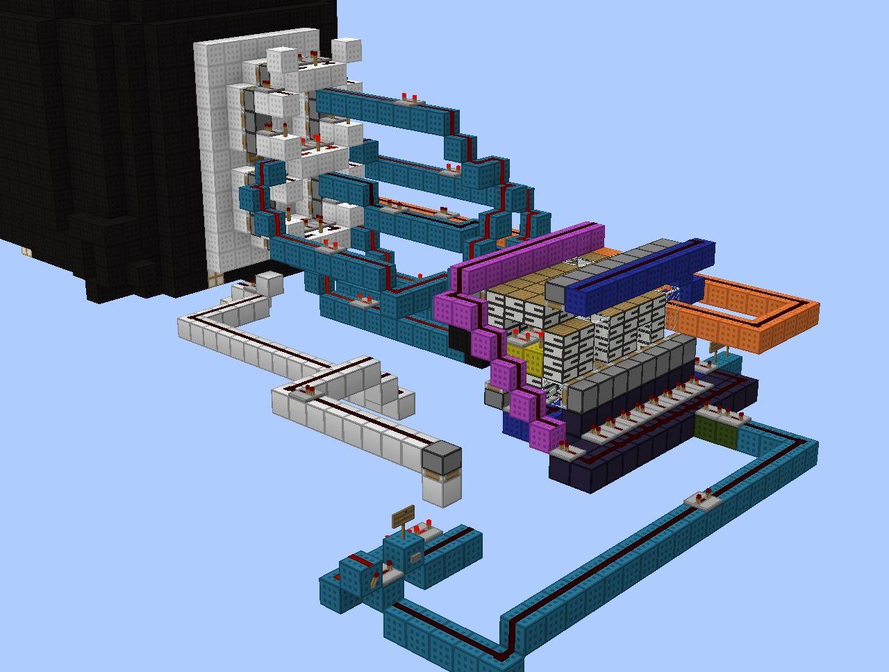 Minecraft Redstone Clock Display 8 Bit Freaksyrgys Project Wiring Mod