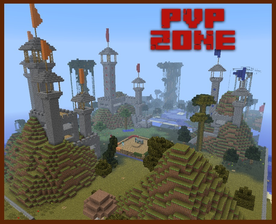 The ultimate PvP experience! Hidden rooms, sniper towers, traps, and much more!