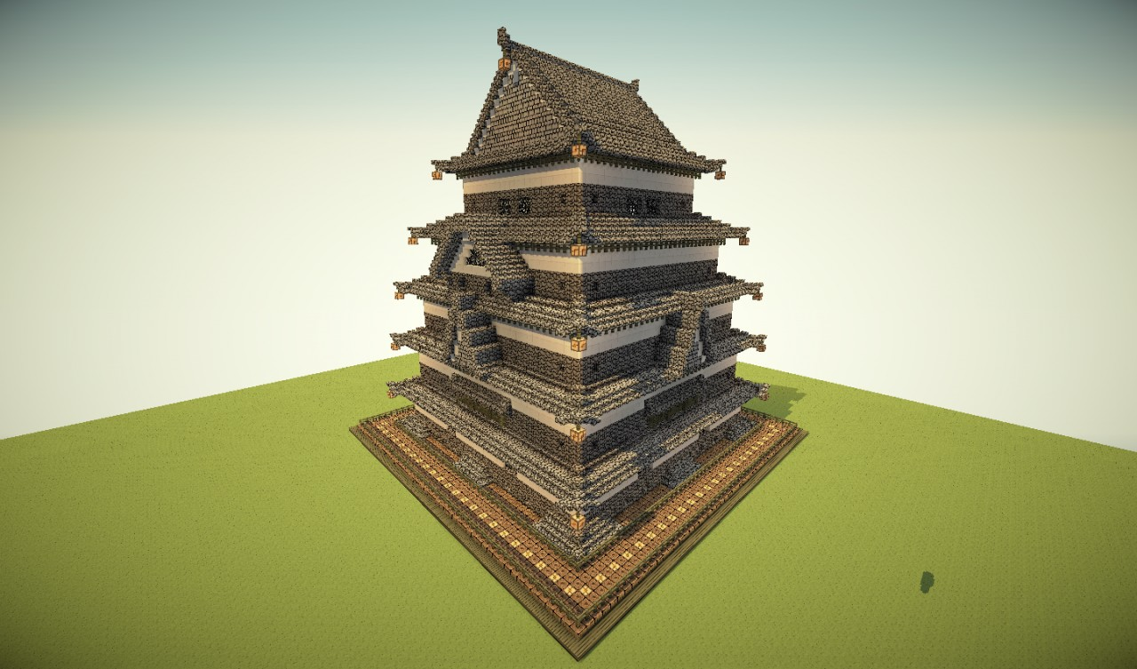 How To Build A Japanese Castle In Minecraft