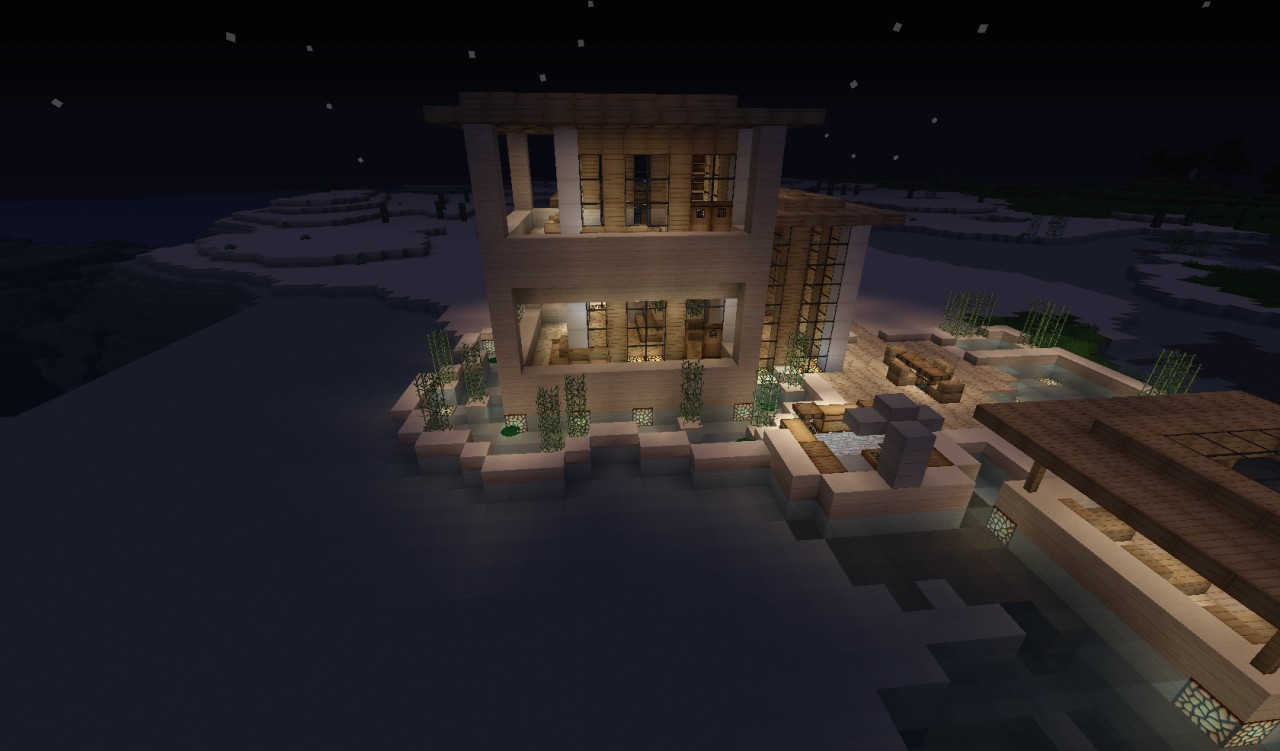 How To Build A Beach House In Minecraft Pe