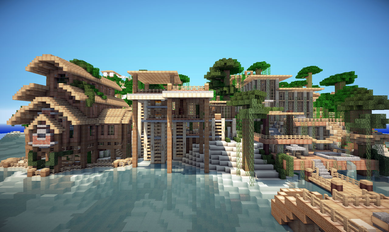 Jungle house on world of keralis minecraft project for Modern house keralis