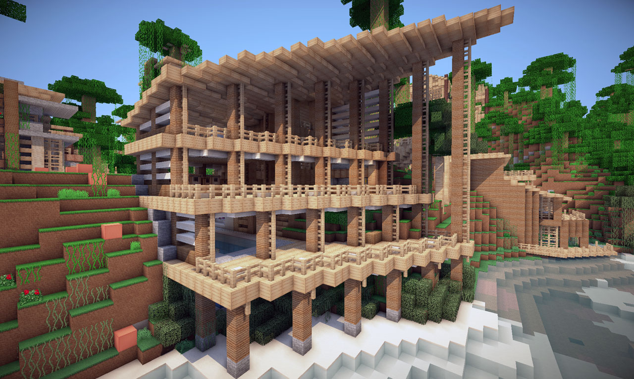 Jungle house on world of keralis minecraft project for House projects