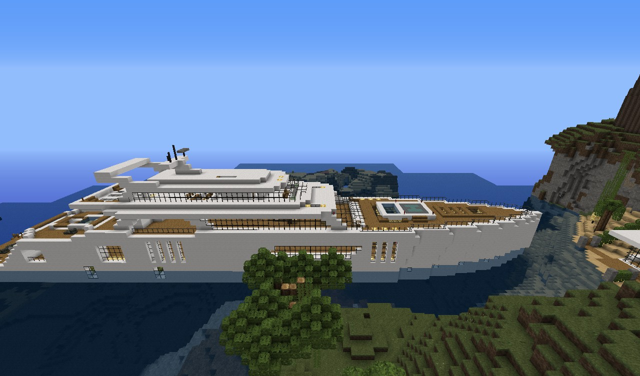 Modern Yacht #1 Minecraft Project
