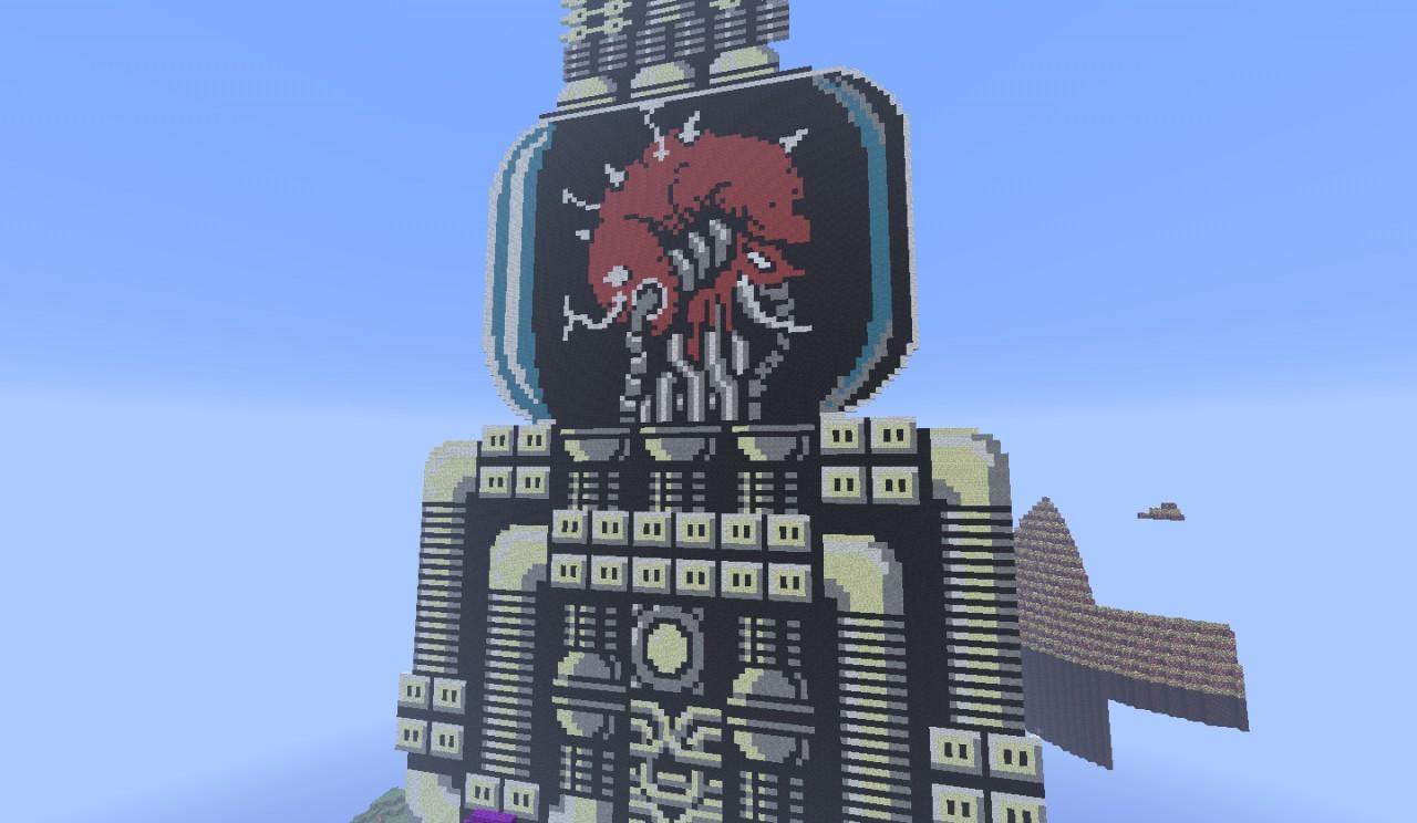 Metroid Pixel Art. Mother Brain