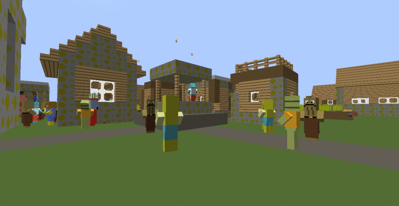 some villagers