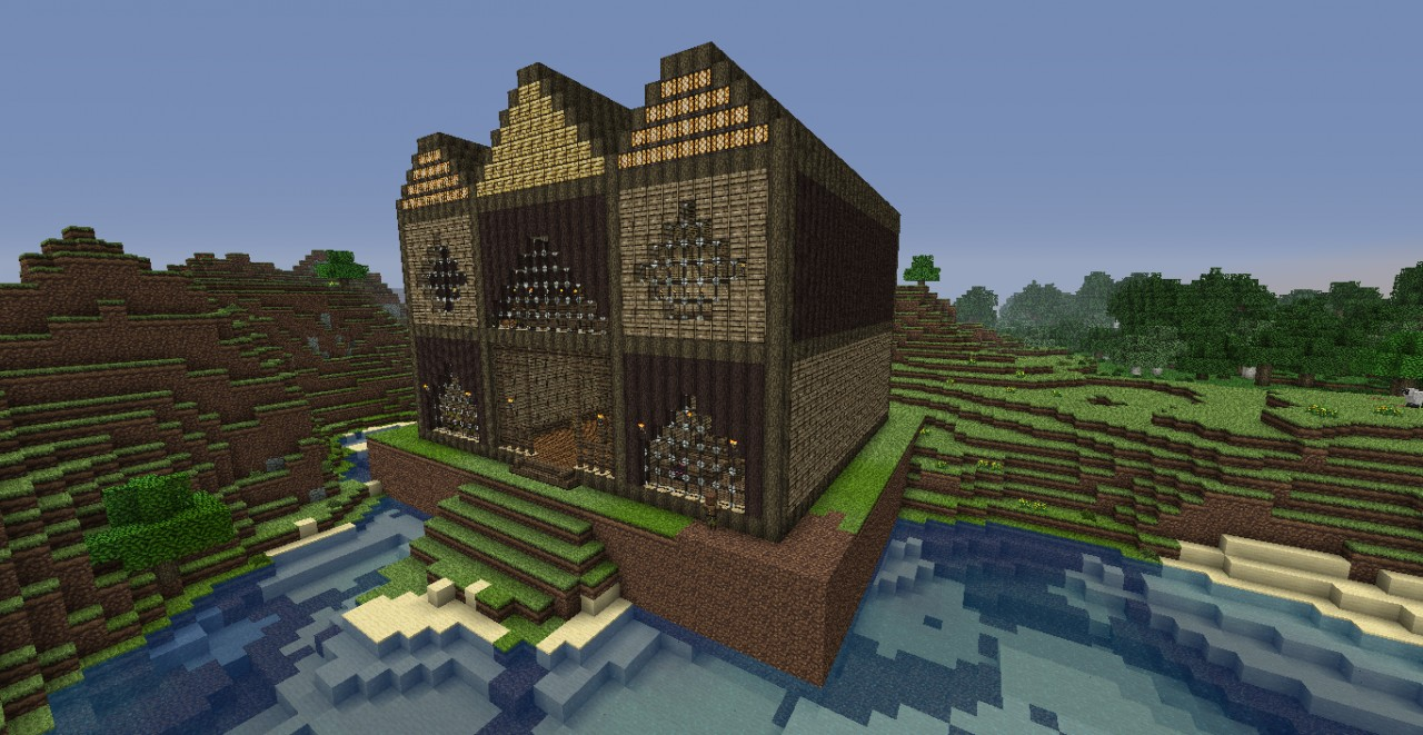 minecraftia church and funeral home minecraft project