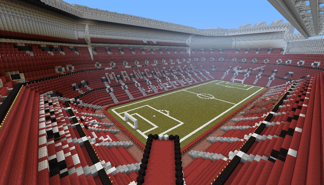 Manchester united football stadium old trafford minecraft project heres an image from the inside the video shows off the stadium i don sciox Gallery