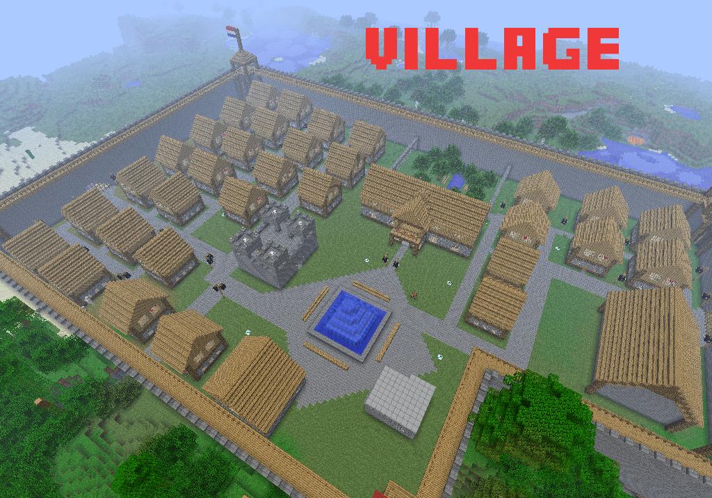 карта на деревню в майнкрафт #2