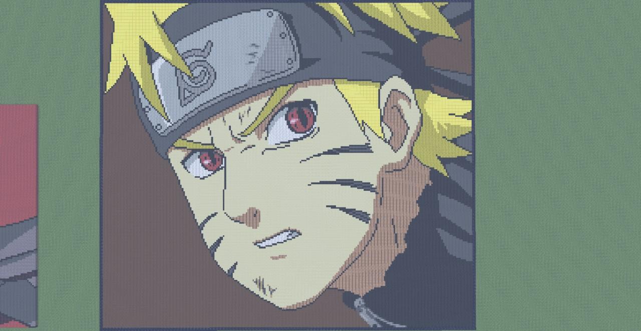 Naruto Uzumaki Naruto Shippuden Pixel Art Minecraft