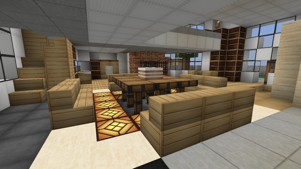 Craft room design just b cause for Dining room designs minecraft