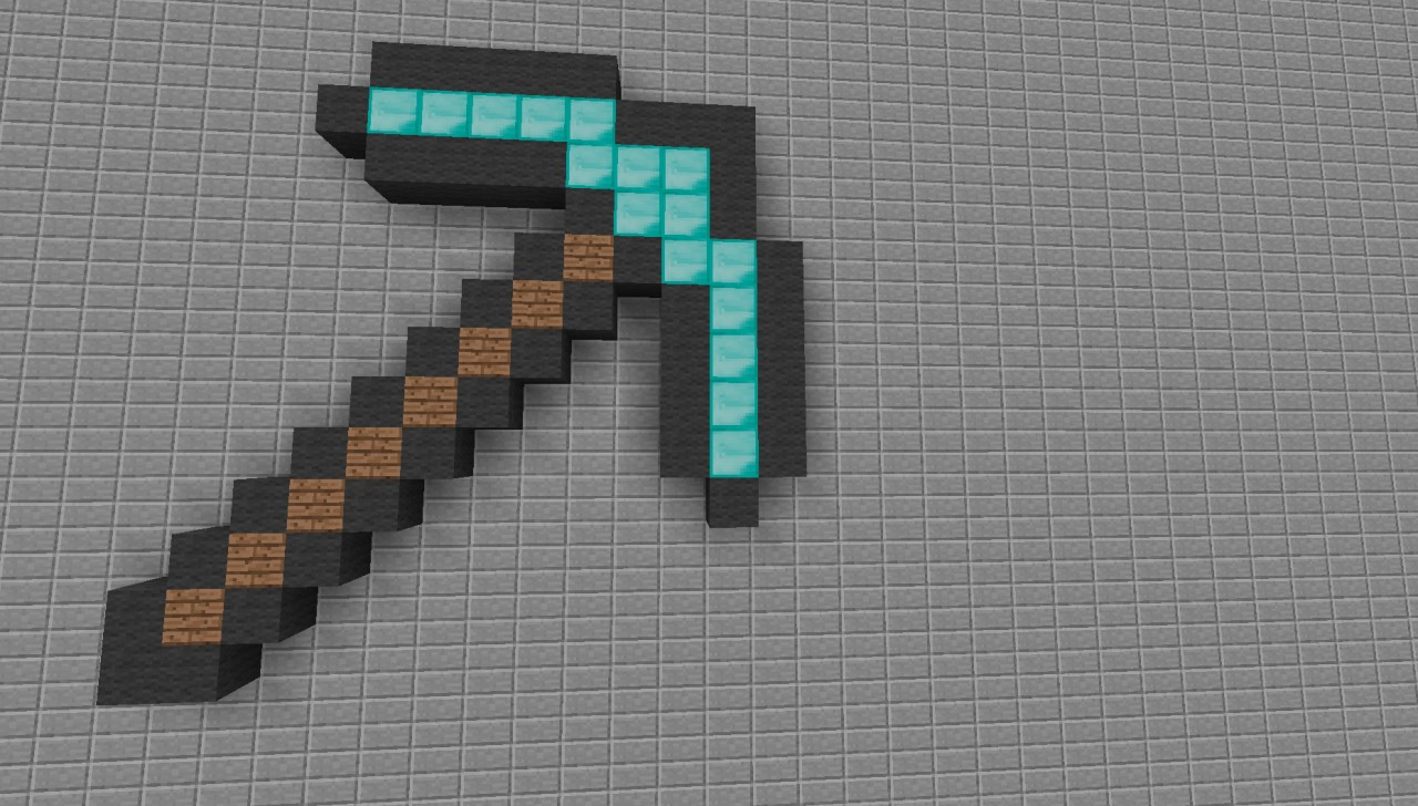 Pixel Art - Diamond Pickaxe Minecraft Project