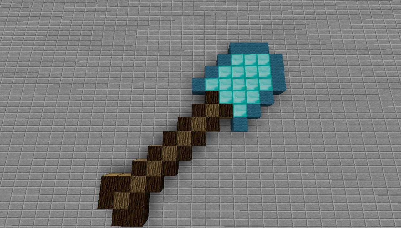 Pixel Art - Diamond Shovel Minecraft Project