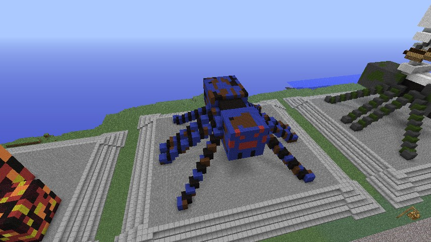 Spider Statue Minecraft Statues - All mobs exc...