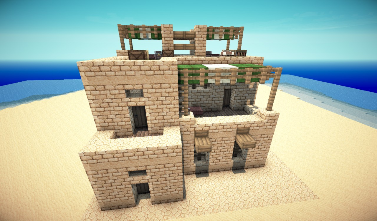 minecraft how to make a house in a desert