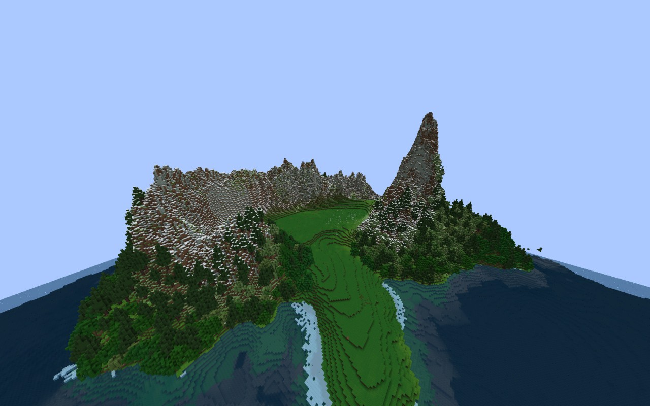 Mountain Island Download Free Terrain Minecraft Project