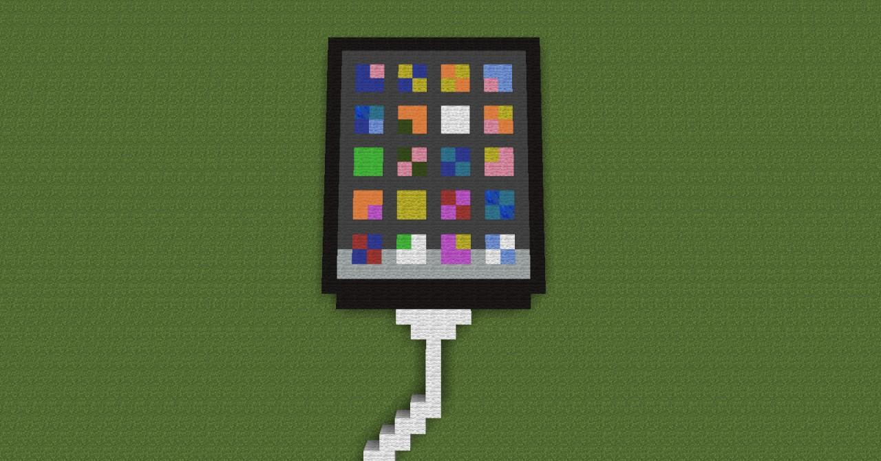 Fabuleux Apple iPhone pixel art Minecraft Project YE02