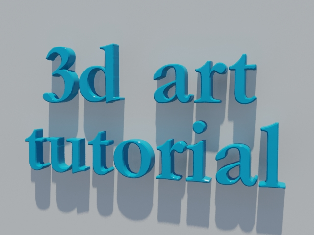 3d art tutorials