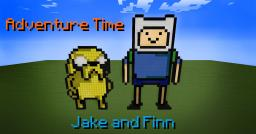 Adventure Time - Jake and Finn [Pixel Art] Minecraft Map & Project