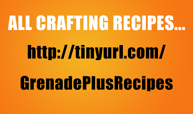 Go to this link for all the crafting recipes...