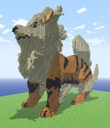 Arcanine Recreation Minecraft