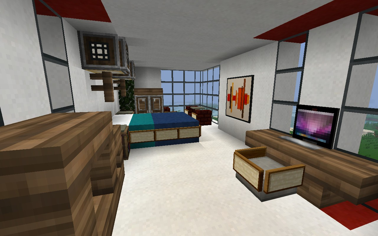 Mcf home minecraft project for Bedroom ideas on minecraft