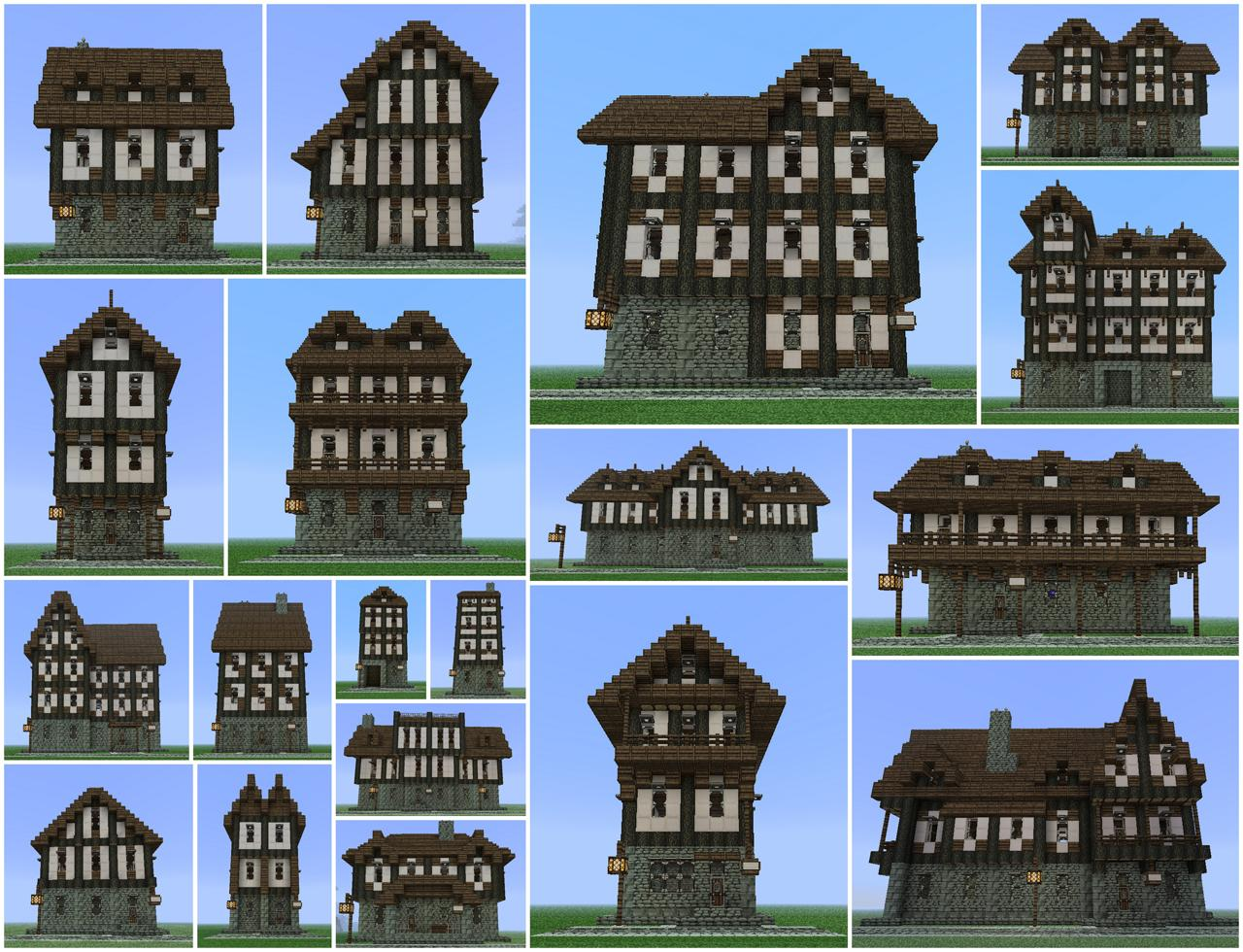 Medieval building pack 19 buildings minecraft project for Medieval house design