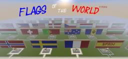 FLAGS OF THE WORLD ( 100/ 200 flag )   new save  visited map with minecart rails + video                                      Give your suggestions with flags Minecraft Map & Project