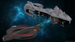 MASSIVE Farscape space battle: Peacekeeper vs. Scarran Minecraft Map & Project