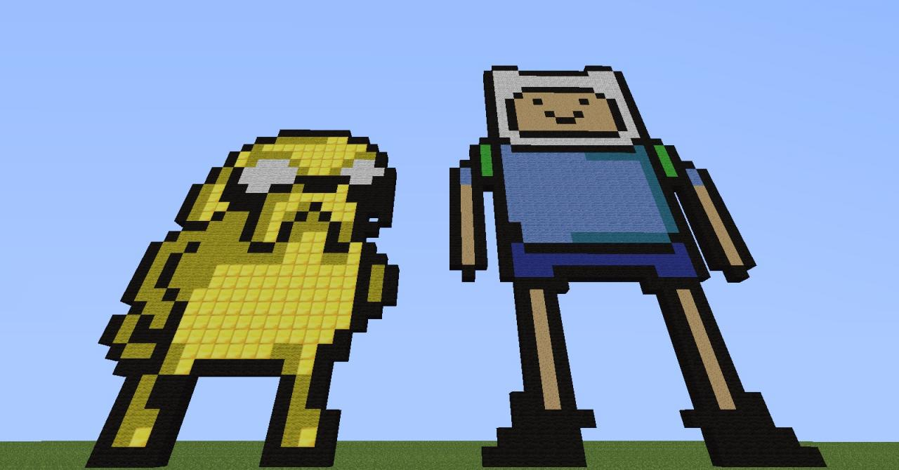 finn y jake pixel art