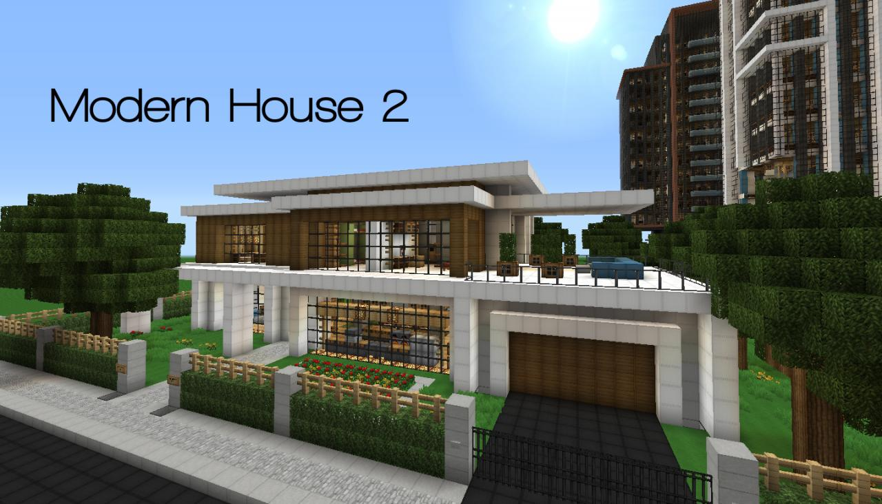 Modern house series 2 minecraft project for Minecraft modern home designs