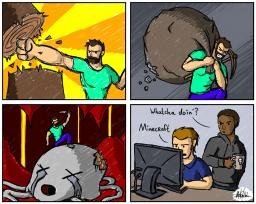 Comic of Steve Minecraft